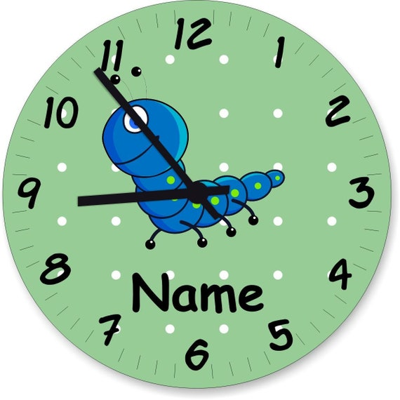 Nursery watch wall clock pastel shades with sweet animals and wishful gift gift watch learn