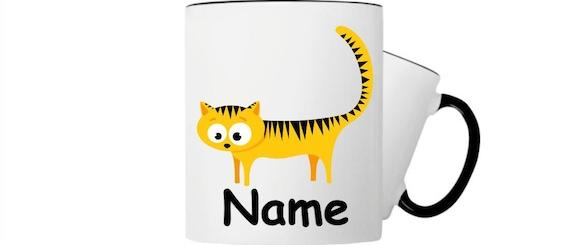 Kinder Tasse Trink Becher Katze mit Wunschnamen