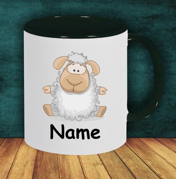 Kids Cup Drinking Mug Sheep with Wish Names