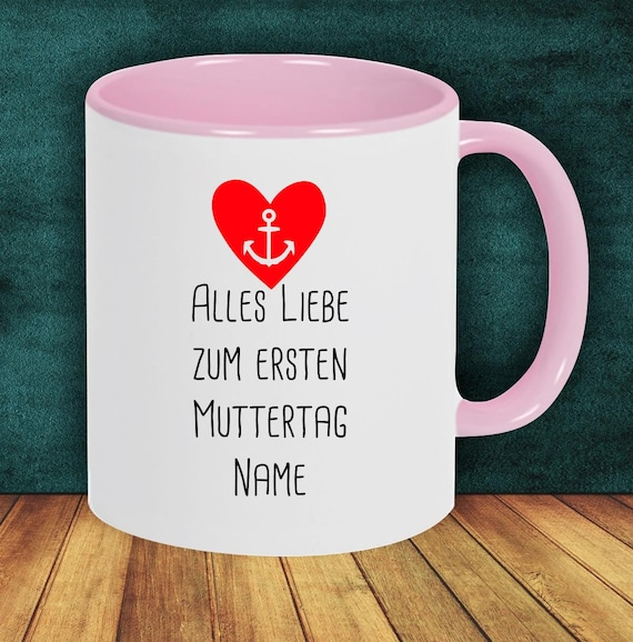 "Coffee pot ""Happy First Mother's Day with Wish Name or Text"" Cup Coffee Cup Teacup Gift Mug"