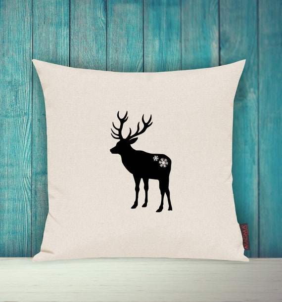 "Cushion Cover Sofa Pillow ""Christmas Deco Moose Pillow"" Sofa Pillow Deco Couch Pillow Pillow"