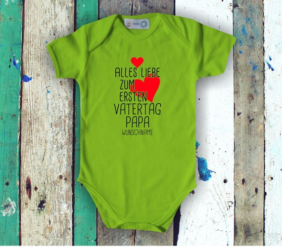 Baby Body Short Sleeve All Love for First Father's Day Dad with Wish Name Text