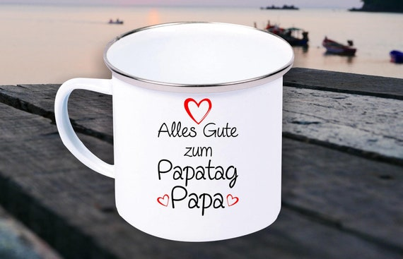 "Enamel Mug ""All The Dad's Day Dad"" Cup Coffee Mug Mug Retro"