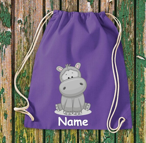 Gym bag animal motifs with wish Name children motifs gym bag sports bag