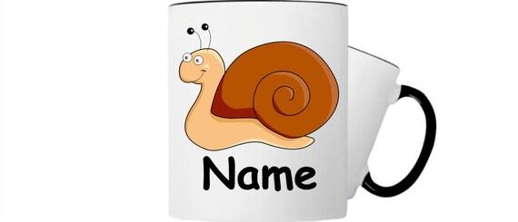 Kinder Tasse Trink Becher Schnecke mit Wunschnamen