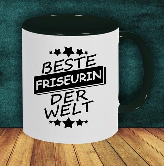 Kaffeepott Tasse Kaffeetasse Beste Friseurin Der Welt Pott Mug Geschenk Job