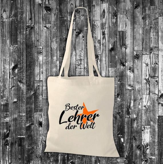Fabric Bag Jute Cotton Bag Best Teacher in the World Gift to Teacher