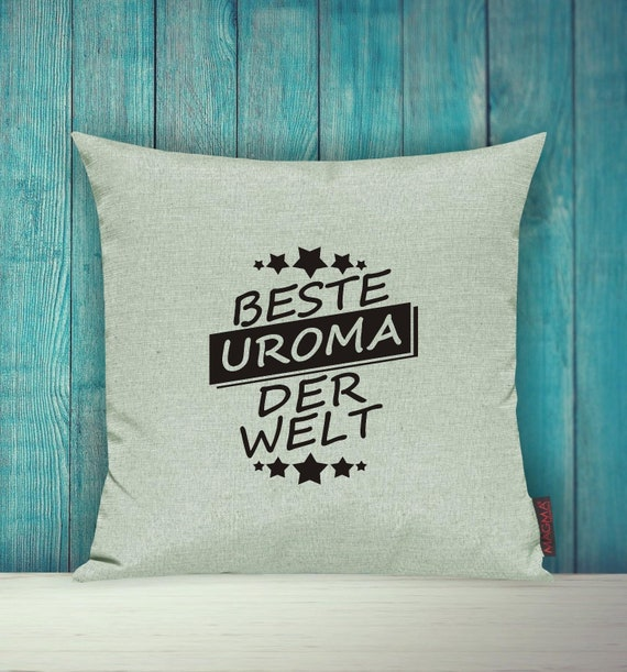 """Cushion Cover Sofa Pillow """"Best Uroma in the World"""" Sofa Pillow Decoration Couch Pillow Pillow Cover Cover Sofa Decoration"""