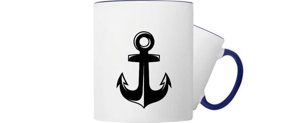 Kaffeepott Tasse Maritim Motiv Anker