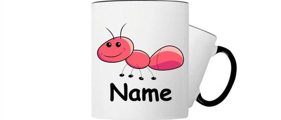 Kinder Tasse Trink Becher Ameise mit Wunschnamen