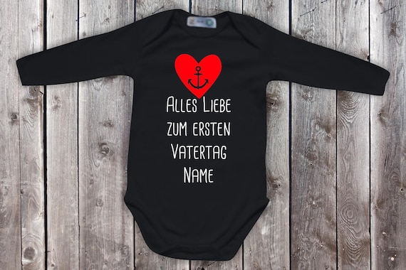 Baby Body Long Sleeve Baby Bodysuit All Love for First Father's Day with Wish Name Gift Longsleeve
