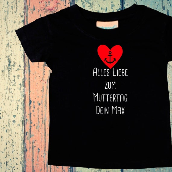 Baby Kids T-Shirt Happy Mother's Day Mom with Wish Text Gift Birth Momday