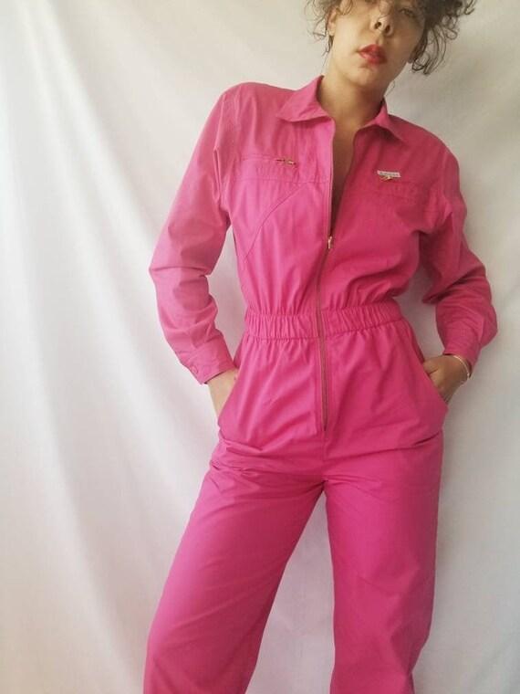 vintage 90s saint germain paris hot pink cotton zi