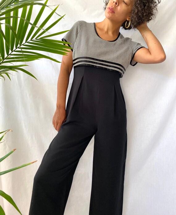 vintage 90s gingham pleated jumpsuit romper onesie
