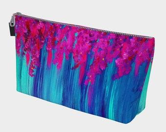 Falling Lilacs Accessory Bag