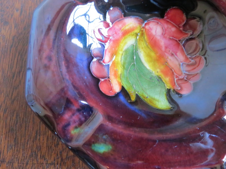 William MOORCROFT Flambe Ashtray Autumn Berries Potter to HM the Queen