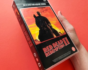 Custom made 'Red Dead Redemption 2' VHS box