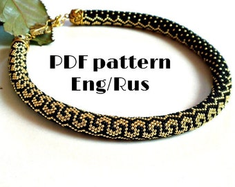 Boho Chic necklace black cord with clear beads 1pc BLKCLEAR 32 Beaded Crochet Necklace with lobster clasp