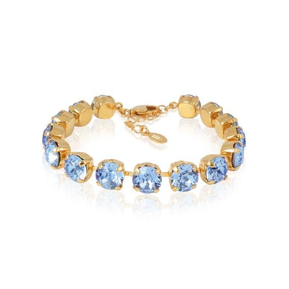 Swarovski tennis bracelet in Light Sapphire