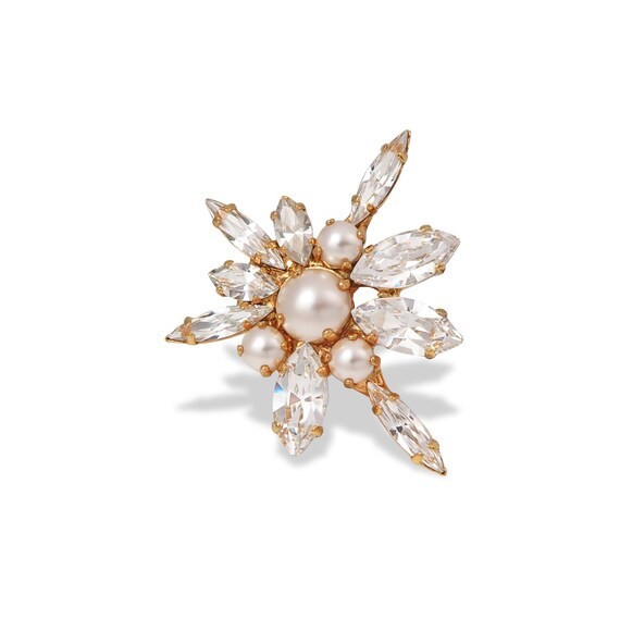 Swarovski Crystal Floral Statement Ring