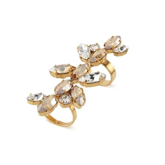 Crystal Vines Embellished Knuckle Ring