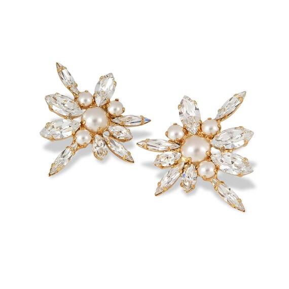Swarovski Floral Statement Earrings