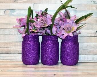 Glitter Mason Jars Etsy