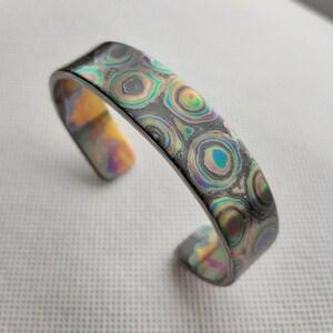 Titanium Damascus Cuff Links 16mm