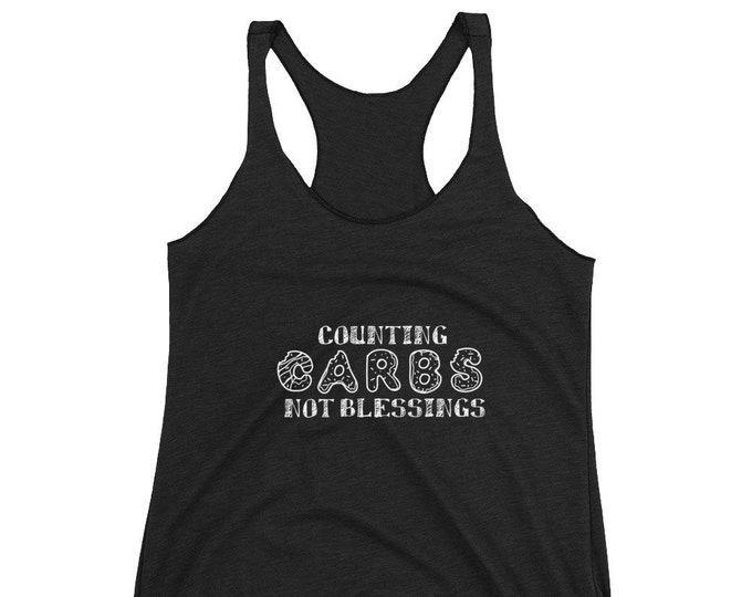 Carb Counting Women's Racerback Tank
