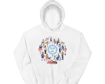 We Are Type One Unisex Hoodie by 28 Units Diabetic Apparel Co. - Type One Diabetes Shirt