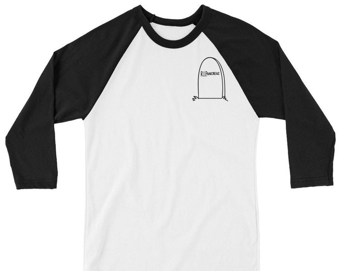 R.I.P.ancreas 3/4 sleeve raglan shirt