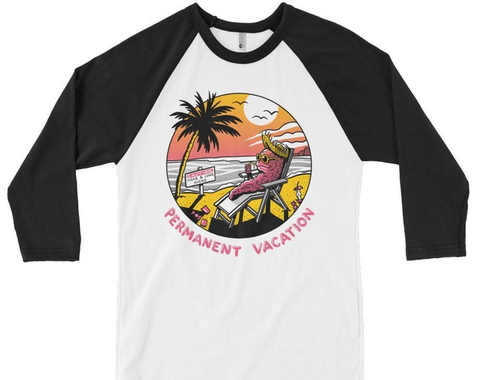 PERMANENT VACATION 3/4 sleeve raglan shirt