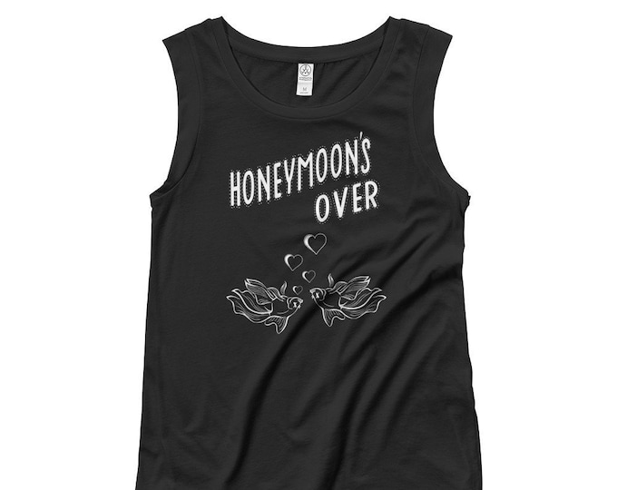 HONEYMOON Ladies' Cap Sleeve T-Shirt