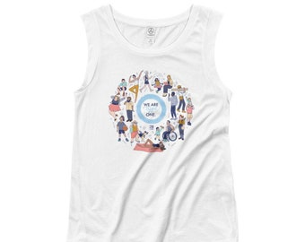 We Are Type One Ladies' Cap Sleeve T-Shirt