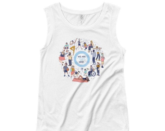 We Are Type One Ladies' Cap Sleeve T-Shirt