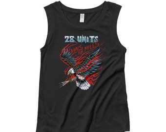 VIALS FOR MILES Ladies' Cap Sleeve T-Shirt by 28 Units Diabetic Apparel Co. - Type One Diabetes Shirt