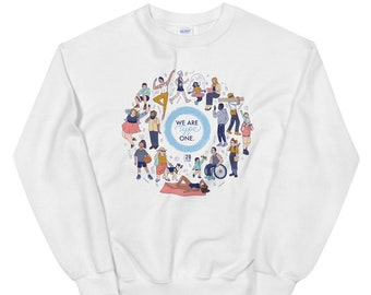 We Are Type One Unisex Sweatshirt by 28 Units Diabetic Apparel Co. - Type One Diabetes Shirt