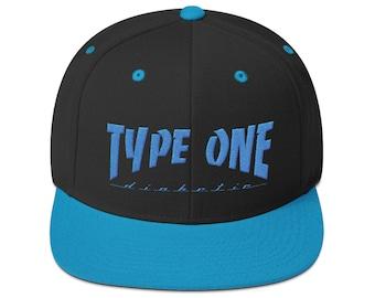 T1D Snapback Hat- Teal