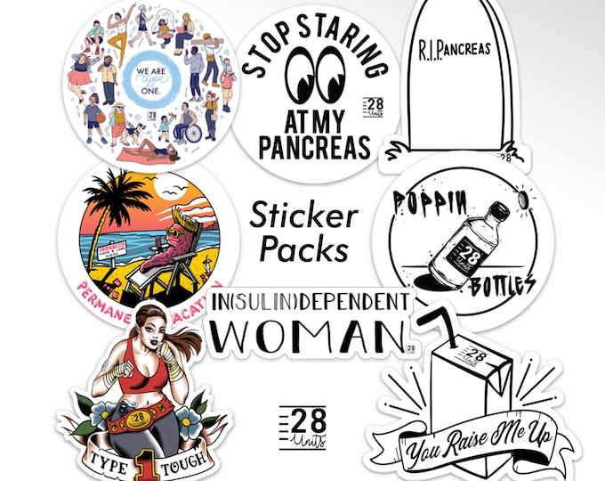 28 Units Die-cut Vinyl Sticker Bundle