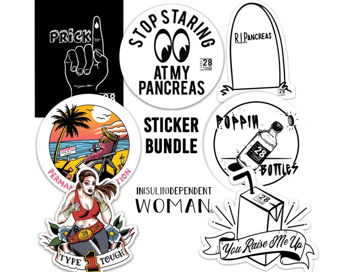 28 Units Die-cut Vinyl Sticker Bundle