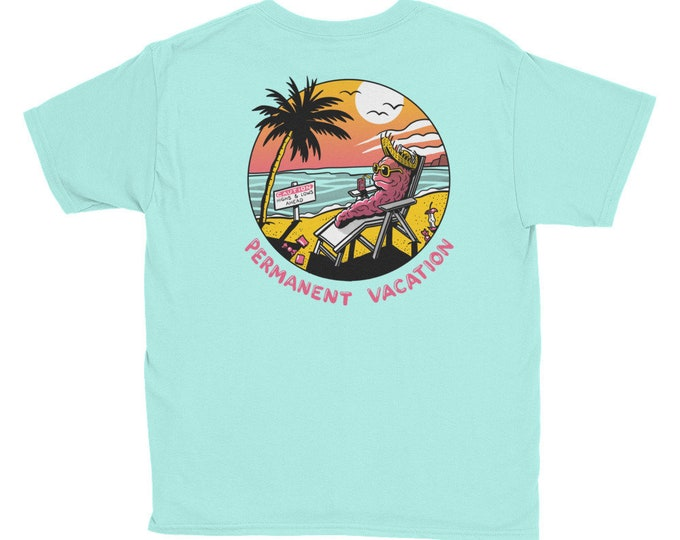 PERMANENT VACATION Youth Short Sleeve T-Shirt