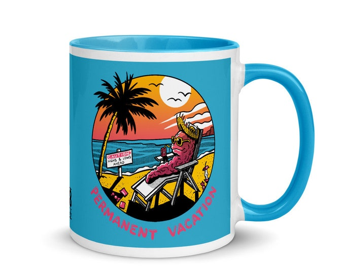 PERMANENT VACATION Mug with Color Inside