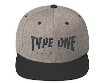 T1D Snapback Hat - Grey