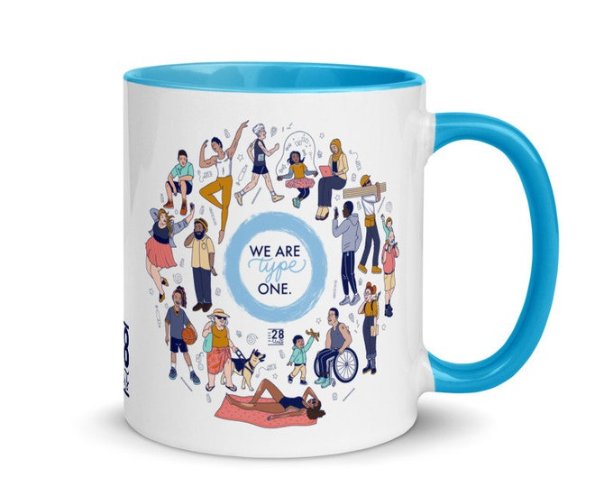 We Are Type One mug with Color Inside