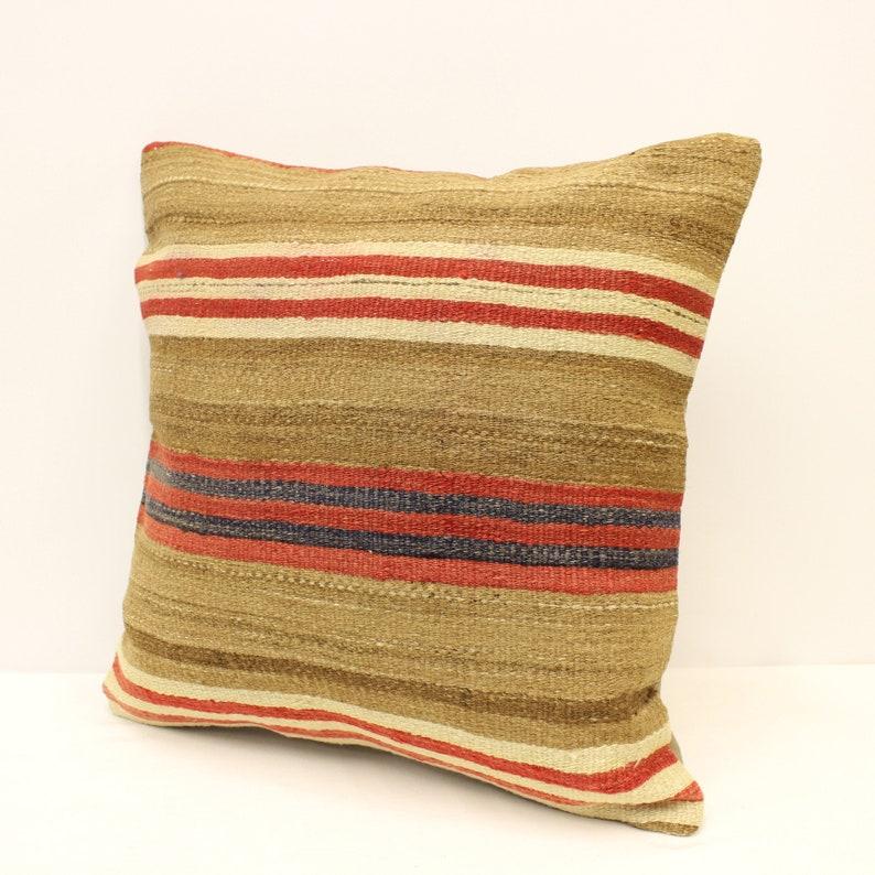 Turkish Kilim Pillow Covers 20x20 inches 50x50 cm Bolster Pillow Handmade Rug Cushion Case Throw Pillow Blue Green White 4ef-678