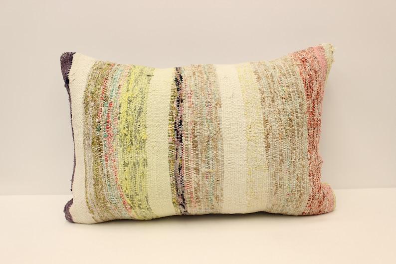 16x24 in Vintage Turkish Kilim Pillow  40x60 cm  Colorful Accent Sofa Cushion Boho Lumbar Pillow Covers Home Decor 4kaf-804