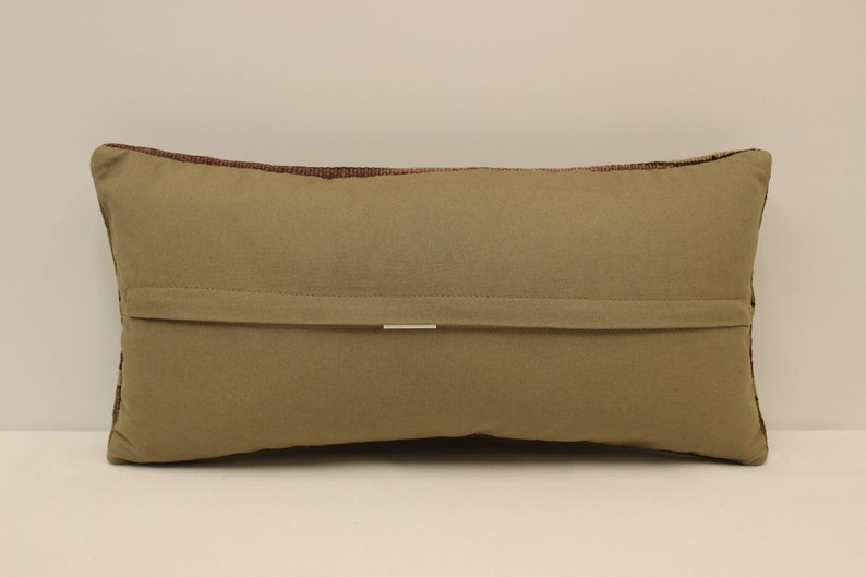 Vintage Pillow Cover 10x20 in 25x50 cm Lumbar Brown Black Blue Flaming Bedding Pillow Boho Kilim Cushion Sofa Tribal Pllow 4yef-890