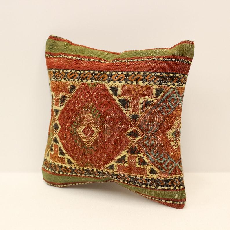 Throw Pillow Cover 12x12 inches 30x30 cm Handmade Cushion Boho Flaming Bedding Pillow Vintage Kilim Cushion Sofa Kissen 4of-902