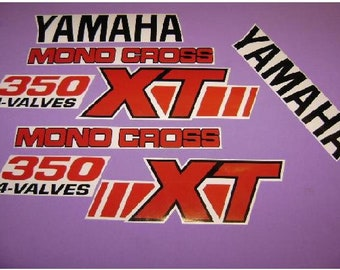 Used, XT350 yamaha 1989-1991 mono cross kit de stickers autocollants vintage for sale  Delivered anywhere in Canada