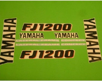 1986 1200 yamaha FJ 1200 kit de stickers autocollants vintage for sale  Delivered anywhere in Canada